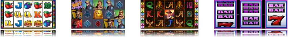 screens from online casino slots and games
